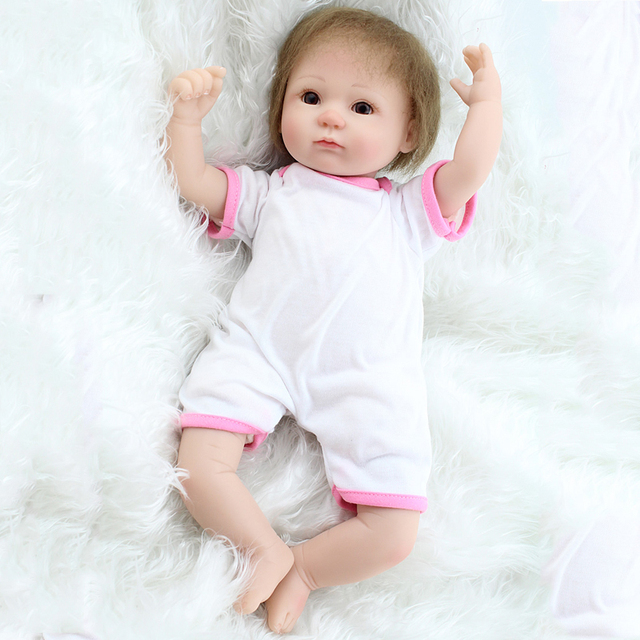"18"" Handmade Lifelike Pink Bunny Dress Baby Doll Silicone Vinyl Reborn Newborn Dolls With Clothes Gifts   Collections About 45cm"