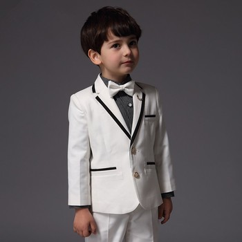 2019 New Wedding Suits For Kid White Boy Tuxedos Custom Made Boys Suits Children Suit Slim Fit Two Button jacket+pants