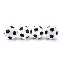 New 4 Pcs 32mm Football Fussball Soccerball Sport Gifts Round Indoor Games Foosball Table Football Plastic Soccer Ball