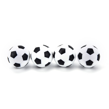 New 4 Pcs 32mm Football Fussball Soccerball Sport Gifts Round Indoor Games Foosball Table Football Plastic Soccer Ball