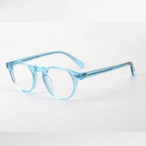 Image 4 - Gregory peck ov5186 vintage óculos mulher quadro claro óculos redondos homens armação óptica para prescrição lente óculos redondos