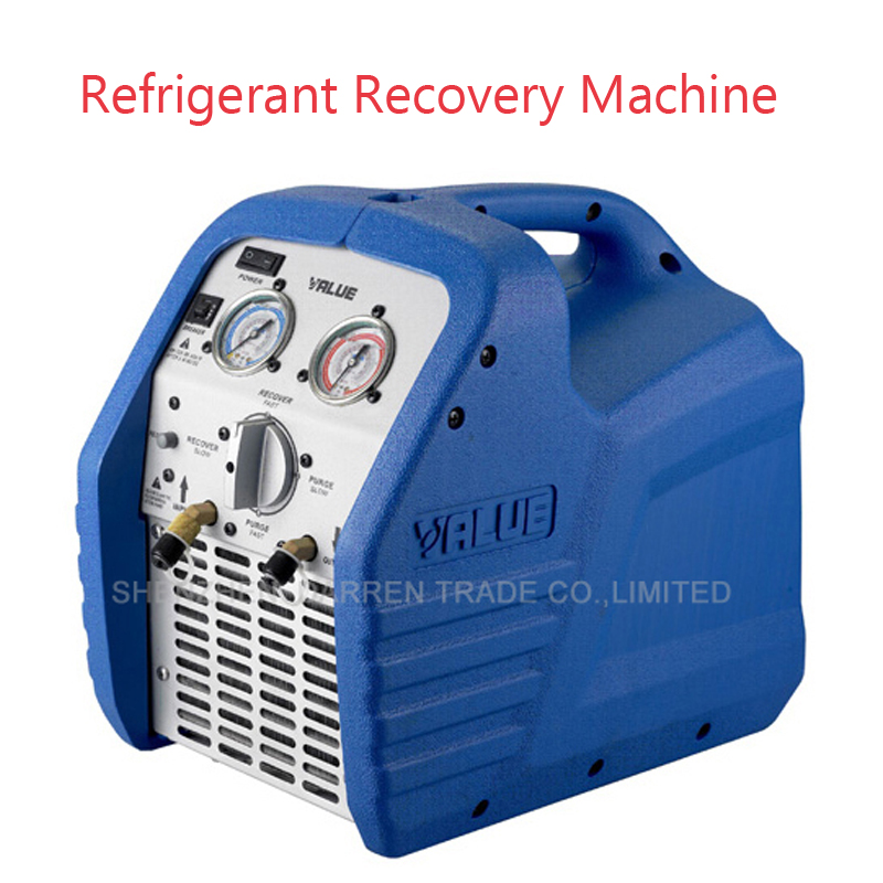 Portable Refrigerant Recovery Machine Mini Refrigeration Recovery Units VRR12L compliant AC 220V network recovery