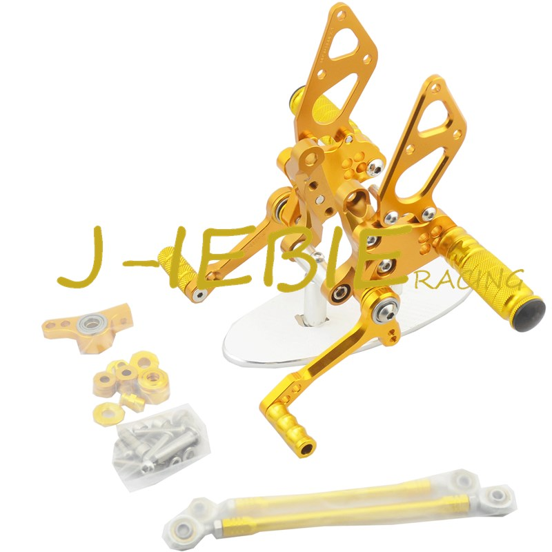 CNC Racing Rearset Adjustable Rear Sets Foot pegs Fit For Ducati 848 1098 1198 R/S R S GOLD cnc racing rearset adjustable rear sets foot pegs fit for ducati streetfighter 848 1098