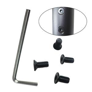 Image 2 - Nouveau 4 pièces noir front robinet vis avec poignée hexagonale pour Scooter électrique pour Xioami M365 M185 accessoires Scooter électrique
