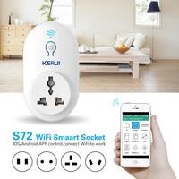 KERUI S72 Wi-Fi розетка, умный дом автоматизация приложение Управление Свит с ЕС AU США Великобритании Разъем для iphone xiaomi Android