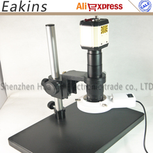 Wholesale prices 3 in1 Industry Microscope Camera 2mp 1/3 inch sensor VGA AV USB outputs + 180X C-Mount Lens + LED Light + Stand for Industry Lab