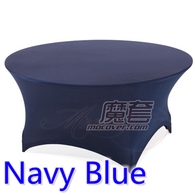 Navy blue color wedding table cloth lycra table cover spandex table linen hotel banquet party round tables decoration on sale