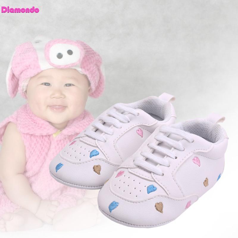 Spring Baby Sports Shoes Toddler Infant Love Pattern Soft Sole Prewalkers Kids Moccasins Newborn Boy Girl Footwear Sneakers