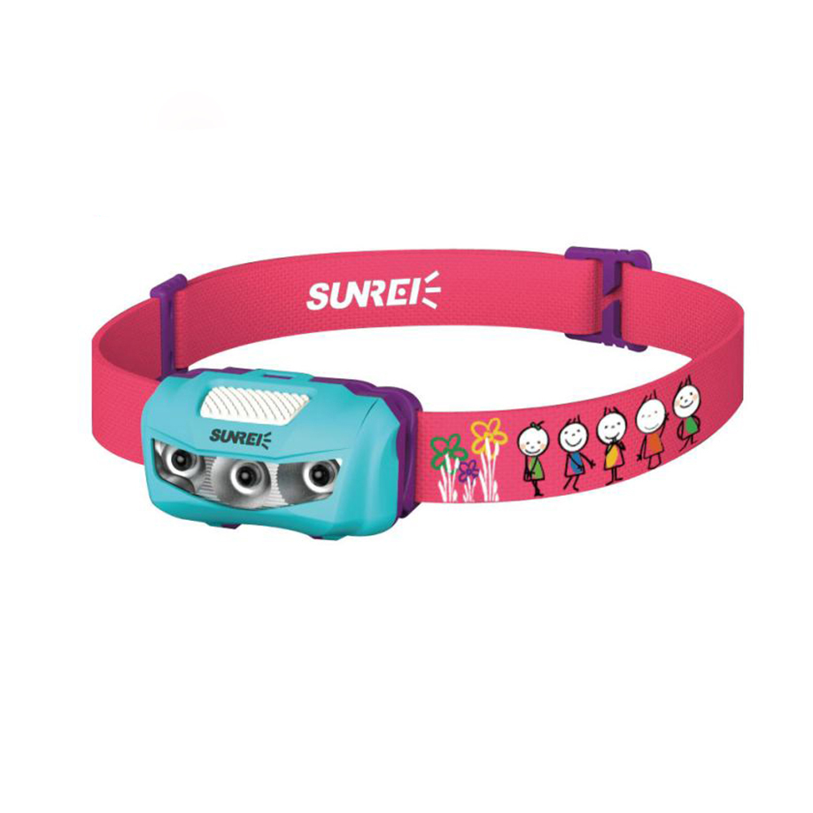 Children Headlamp Strong Light LED Waterproof Sensor Headlights For School Outdoor Kids AAA batteries Protecting 25M IPX-6 2018