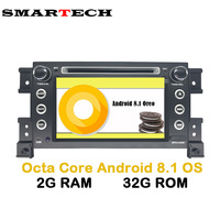 SMARTECH 7 IPS 2Din Android 8.1 Car dvd For Grand Vitara 2007 2013 Stereo GPS navigation car radio USB audio video player Wifi