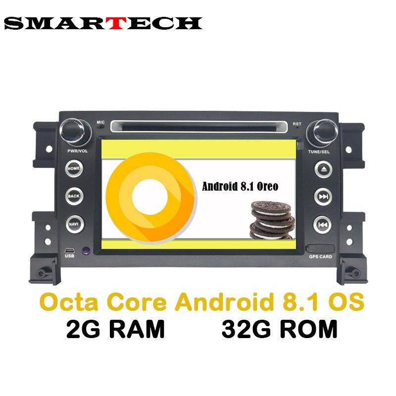 SMARTECH 7 IPS 2Din Android 8.1 dvd De Voiture Pour Grand Vitara 2007-2013 Stéréo GPS de navigation de voiture radio USB audio vidéo lecteur Wifi