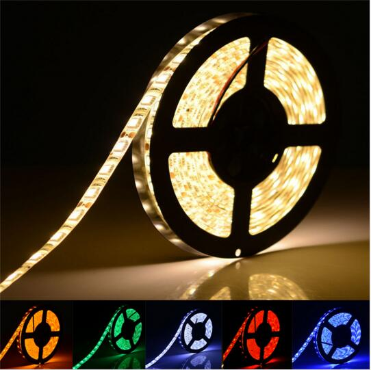 5M/roll 24V IP67 Waterproof Flexible LED Strip 5050 Lighting Led Tape Ribbon Outdoor Decoration Led string lamp 60leds/m x 500m