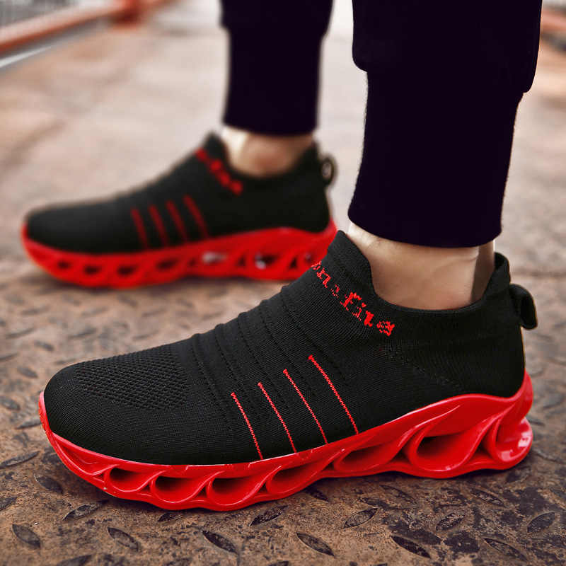 Мягкие Нескользящие мужские кроссовки для бега, уличная дышащая прогулочная беговая Обувь для бега, профессиональная легкая мужская спортивная обувь, размер 39-44