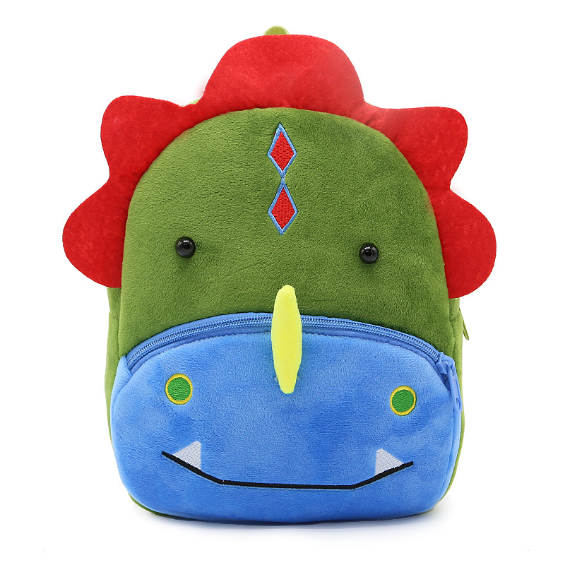 3D Cartoon Kids School Bags for Girl Boys Animal Cute Dinosaur Backpack Baby Bag Plush Children Backpacks Kindergarten Schoolbag