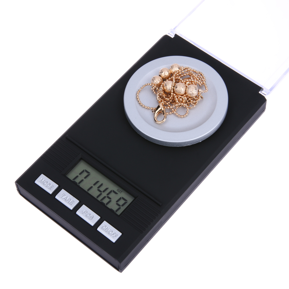 50g/0.001g Electronic Scales LCD Digital Scale 0.001g Jewelry Medicinal Herbs Portable Mini Lab Weight Milligram Scale