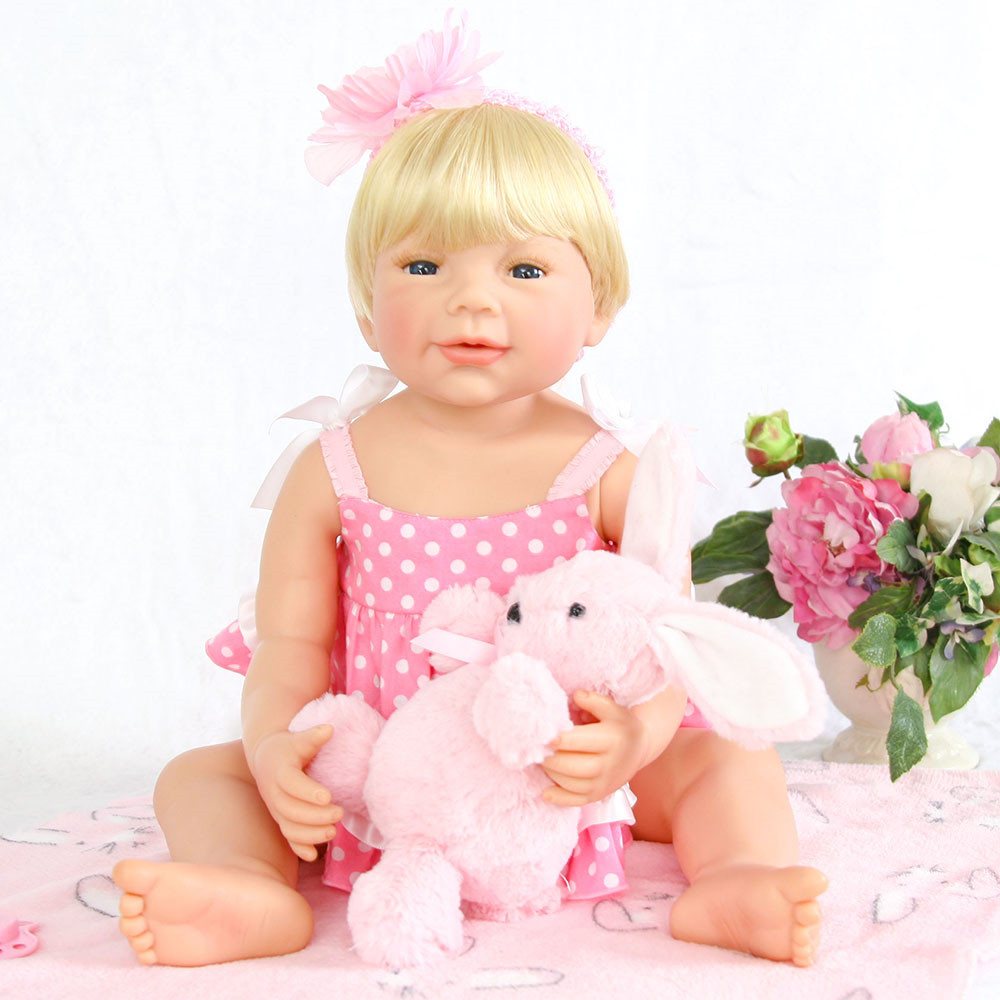 Active New Arrival Baby Girl Reborn Dolls Kids Toy Full Silicone Vinyl 22 55 Cm Real Life Bebes Reborn Alive Doll Npk Collection Hot Neither Too Hard Nor Too Soft Toys & Hobbies