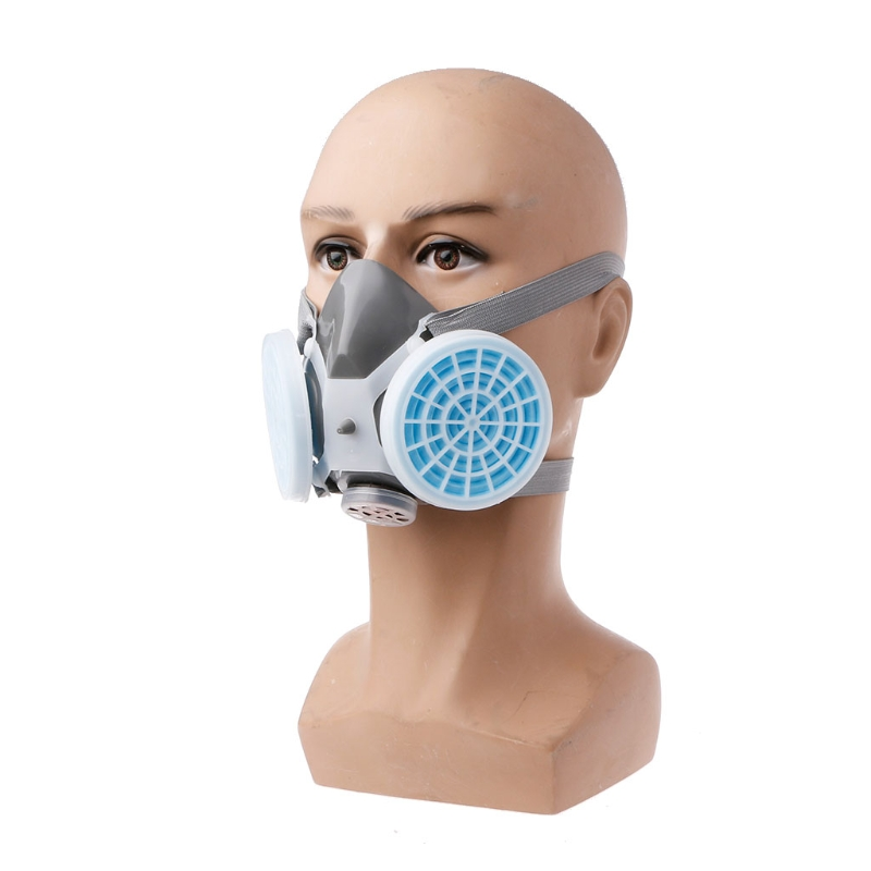 Anti Dust Mask Plastic + Rubber + Silicone Anti-Dust Respirator Mask Filter Industrial Paint Spraying Protective Facepiece