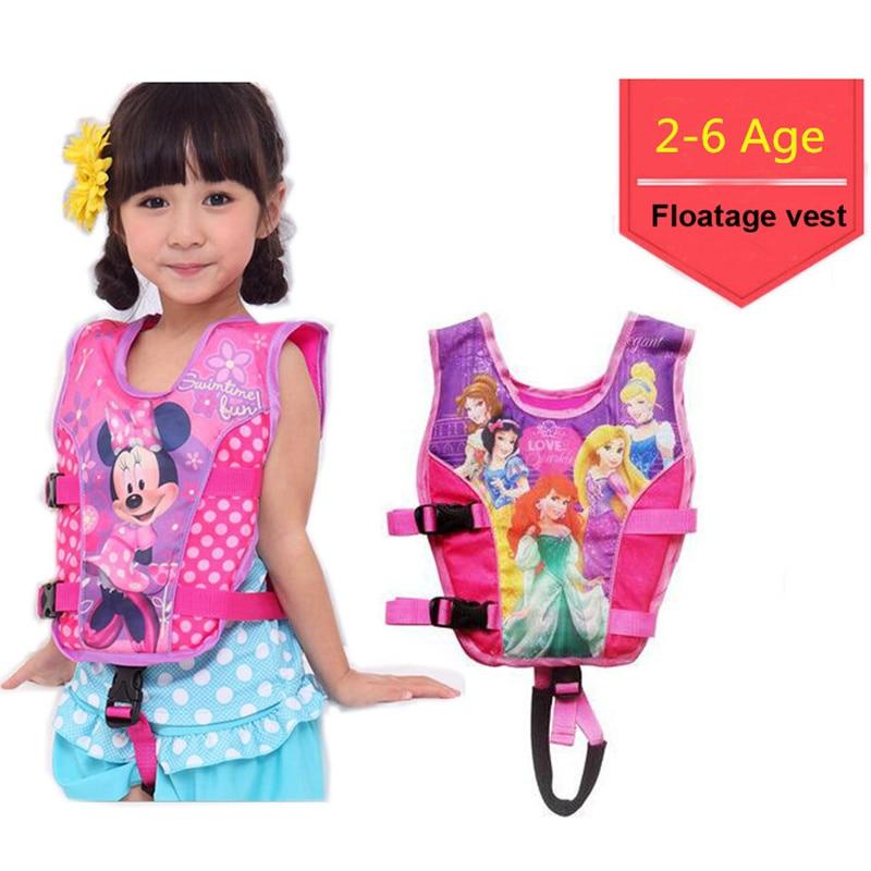 2-6 Years Baby Swim Vest Child Swim Trainer Fishing Life Vest Ring Kid Buoyancy Swimsuit Sailing Jacket Pool Piscine Accessories