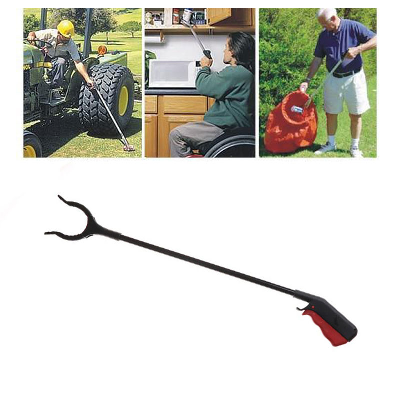 Pick Up Grabber Tool Ground Garbage Reach Hand Stick Long Claw Useful Cleaning Tool Small Item Trash Arm Grip