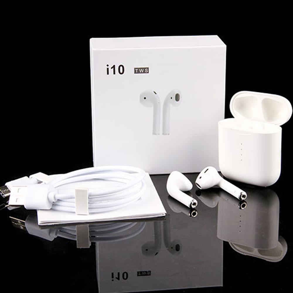Chaude i10 TWS mini bluetooth 5.0 Stéréo Écouteurs Sans Fil De Charge Écouteurs Tactile casque de contrôle pour iphone Samsung Tous Les Smartphone