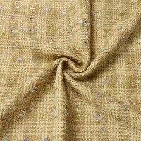新しいベージュマルチカラー羽糸ツイードウール生地ファッション