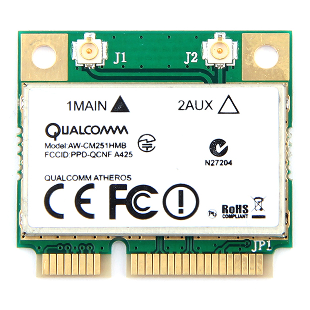 Image 4 - Dual Band Atheros WiFi Bluetooth Card 433Mbps Qualcomm AW CM251HMB 802.11a/b/g/n/ac 2.4/5G BT 4.0 Wireless Mini PCI E Wlan-in Network Cards from Computer & Office
