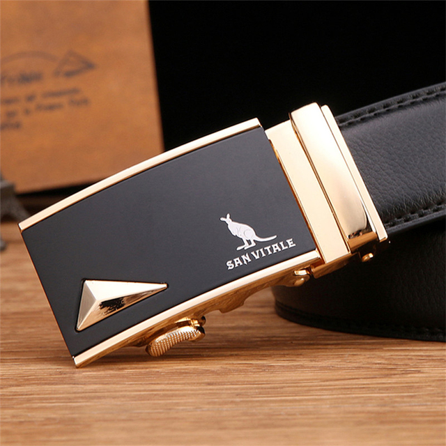 Fashion designer leather strap male automatic buckle belts for men authentic girdle trend men's belts ceinture,cinto masculino