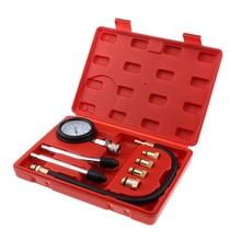 цены 8pcs High Precision Spark Plug Cylinder Compression Tester Test Kit Professional Gas Engine Gauge Tool with Box Automotive Tool