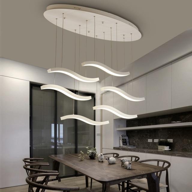 US $109.0 |Dimmerabile Reomte Controllo Lampadario Moderno Per Soggiorno  Sala Da Pranzo Camera Da Letto Foyer Decorazione AC90V 260 v LED Lampadari  in ...