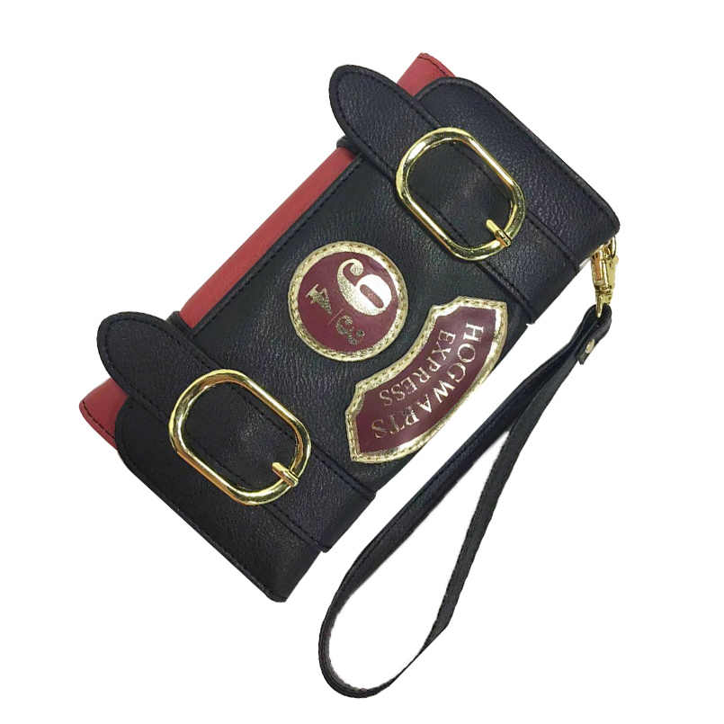 Harry Potter Hogwarts Express 9 3/4 Platform Vintage Long Wallet for Women With Card Holder Zipper Pocket womens wallets
