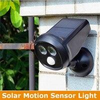 Waterproof 2 LED Solar Lamp Power PIR Motion Sensor Wall Light Outdoor Garden Lamp Wall Solar