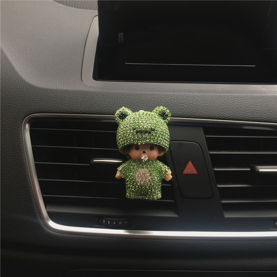 Car interior odor eliminator - New Car Perfume Outlet Odor Removal Cartoon Vehicle Air Conditioner Air Outlet Perfume Clip Interior Decoration Car Styling