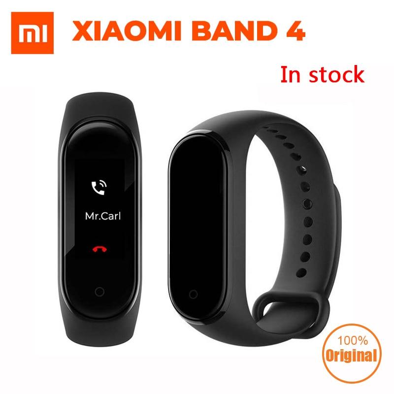 En Stock Original Xiao mi bande 4 2019 plus récent Smart mi bande 4 Bracelet fréquence cardiaque Fitness 135 mAh couleur écran Bluetooth 5.0-in Bracelets connectés from Electronique    1
