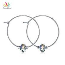 Павлин Звезда одежда высшего качества Твердые 925 пробы серебряные серьги кольца AB австрийского хрусталя подарок на день рождения CFE8136
