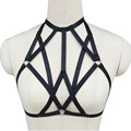 Pentagram harness clothing Elasticity harness bra Can Adjust size Open Cage Bra harness women unique Cosplay party Carnival wear