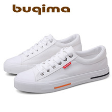 Buqima classic mens canvas shoes fashion comfortable casual youth breathable flat lightweight summer board