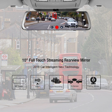 Junsun 4G Android Car DVR 10″ Stream RearView Mirror FHD 1080P ADAS Dash Cam Camera Video Recorder Auto Registrar Dashcam GPS