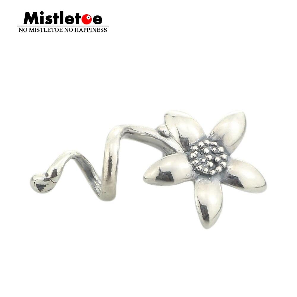 Prix pour Véritable 925 En Argent Sterling Fleur Pendentif Charmes PAS D'origine Fit Troll Européenne 3mm Bracelet & Collier Bijoux Sans Perle