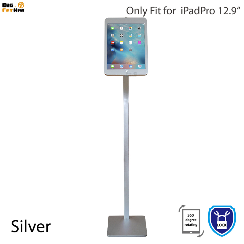 Fit for iPad Anti-Theft display Floor Stand Case with Lock Kiosk holder for iPadPro 12.9 metal case frame security