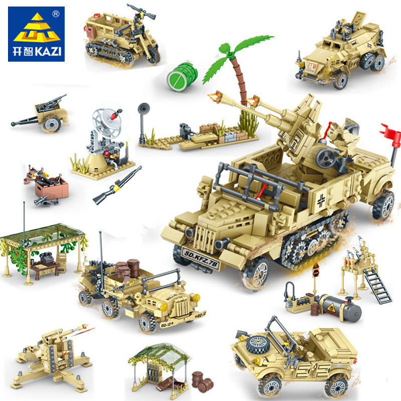 Military Building Blocks Sets EAGLE CORPS Tank JEEP Army Soldiers WW2 LegoINGs Juguetes Playmobil Lepinblocks Toys For Children