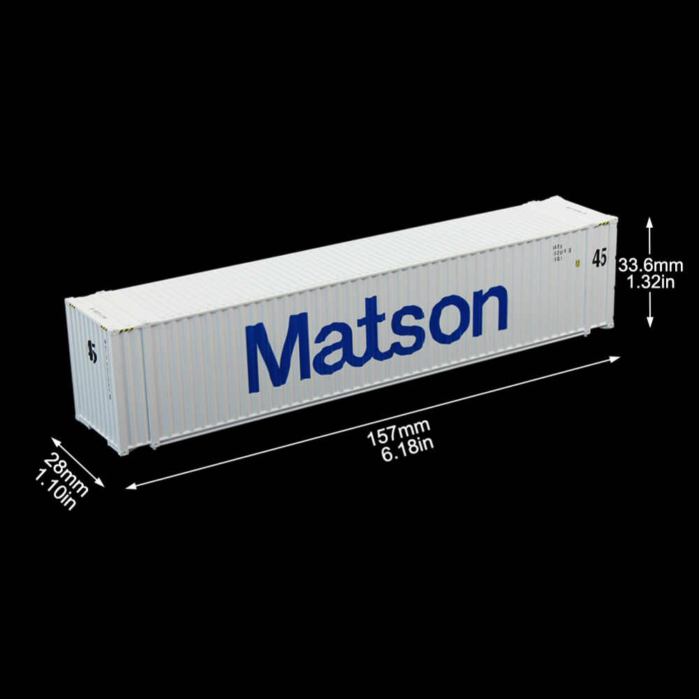 1:87 HO Scale Matson Shipping Container 45ft Containers Freight Car Model Trains Lot C8745 Railway Modeling
