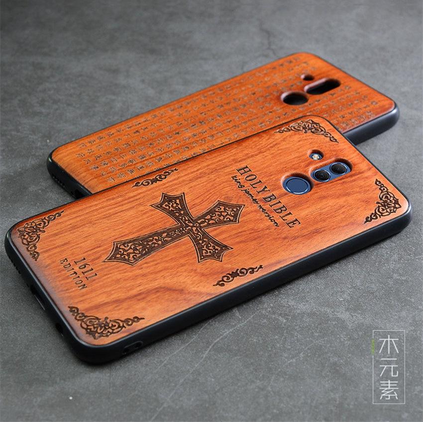 2018 New Huawei Mate 20 Lite Case Slim Wood Back Cover TPU Bumper Case For Huawei Mate 20 Lite Phone Cases Mate20 lite (4)
