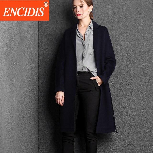 Nova Chegada Das Mulheres Casacos de Inverno e Outono Casaco de Moda Senhora Cinto Trench Coat Blusão Fino Longo Outerwear F124