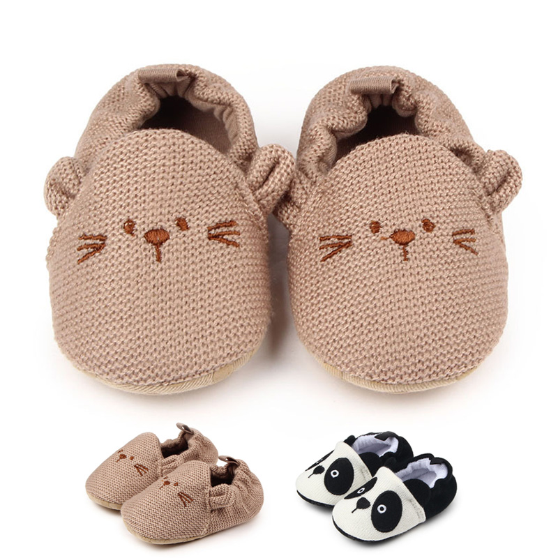 Newborn Baby Floor Shoes Slippers Toddler Baby Shoes Boys Girl Soft Crib Shoes Cartoon Prewalker Baby First Walker Slippers toddler baby shoes infansoft sole shoes girl boys footwear t cotton fabric first walkers s01