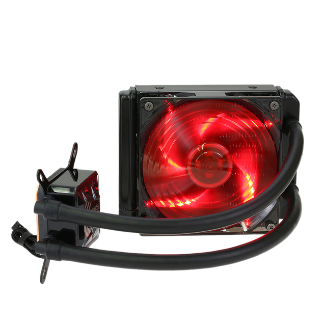 PCCOOLER Liquid Freezer Water Liquid Cooling System CPU Cooler Fluid Dynamic Bearing 120mm Fan with Red LED Light