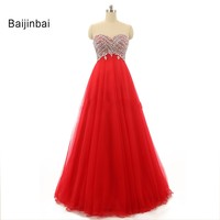 Vestidos De Noiva 2015 Red A Line Tulle Crystal Beaded Strapless Wedding Sweetheart Bridal Wedding Gowns
