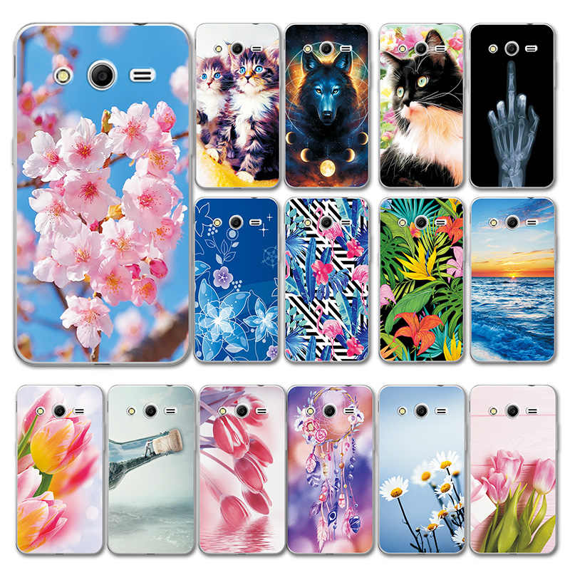 For Samsung Galaxy Core 2 G355H G355 Case Cover Small daisy Love Heart For Samsung Core Prime G360 G3608 Phone Bags Bumper