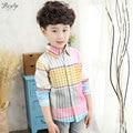 2017 Spring Boys Long Sleeve Striped Shirt Cotton Children Hawaiian Shirts Fashion Baby Boys Shirts for Kids Casual Shirt