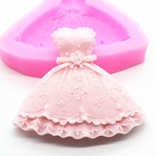 lace sugar chocolate cake soap mold skirt shape  silicone