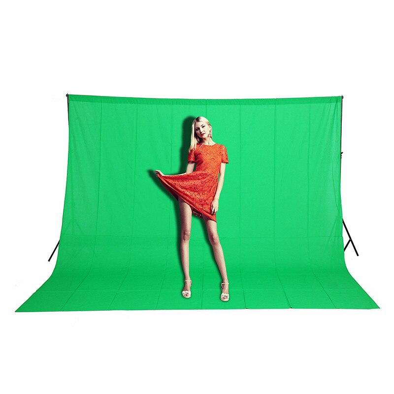 3 m X 6 m 9.8ftX19.6ft 100% Coton Chromakey fond toile De fond Photo éclairage studio Vert couleur Écran décors CD15